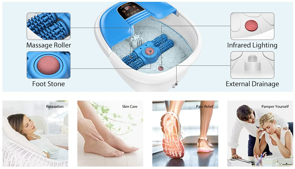 Ivation Foot Spa Massager
